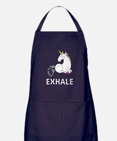 Exhale unicorn Apron (dark)
