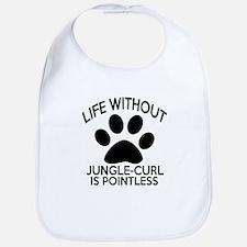 Life Without Jungle-curl Cat Designs Bib