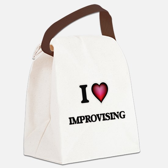 I Love Improvising Canvas Lunch Bag