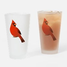 Funny Gold finch Drinking Glass