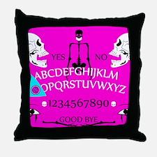 pink ouija Throw Pillow