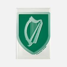 IE Gaelic Harp Emerald Ireland/Eire Rectangle Magn