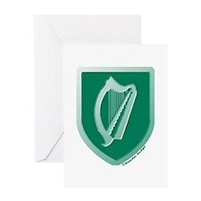 IE Gaelic Harp Emerald Ireland/Eire Greeting Card