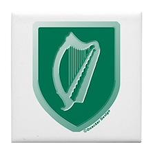 IE Gaelic Harp Emerald Ireland/Eire Tile Coaster