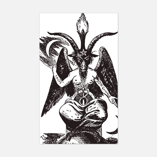 Unique Baphomet Sticker (Rectangle)