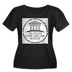 OPAM 1 Women's Plus Size Scoop Neck Dark T-Shirt