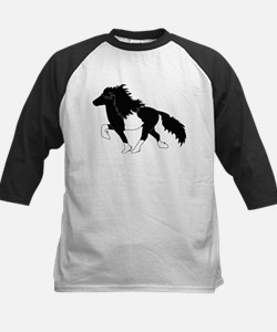 Black and White Pinto Icelandic Horse Baseball Jer