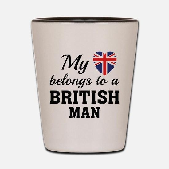 Heart Belongs British Shot Glass