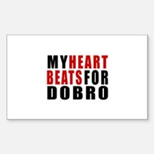 My Heart Beats For Dobro Sticker (Rectangle)
