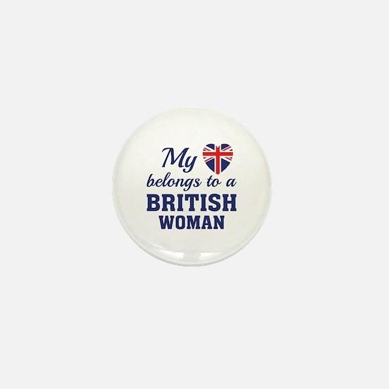Heart Belongs British Mini Button