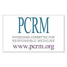 PCRM Logo Rectangle Decal