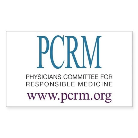 PCRM Logo Rectangle Sticker