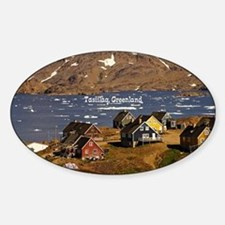 Cute Greenland Sticker (Oval)