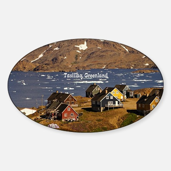 Funny Town Sticker (Oval)