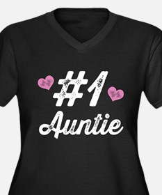 Number 1 Auntie Plus Size T-Shirt