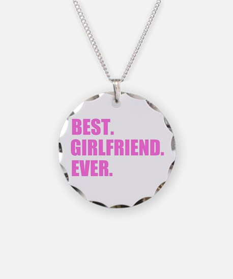 Pink Best Girlfriend Ever Necklace