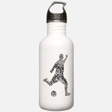 Soccer Football Languages Water Bottle