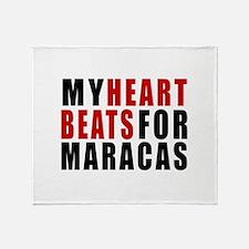 My Heart Beats For Maracas Throw Blanket