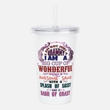 I am not just a Grammy Acrylic Double-wall Tumbler