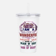 I am not just a Sister Acrylic Double-wall Tumbler
