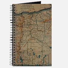Vintage Map of Oregon (1921) Journal