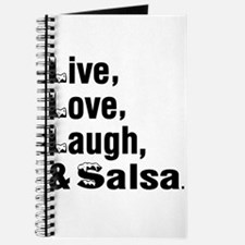 Live Love Salsa Dance Designs Journal