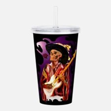 Skull guitar player wi Acrylic Double-wall Tumbler