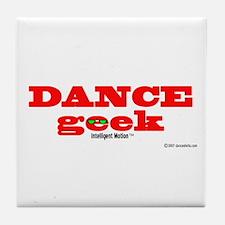 Dance Geek Orange Tile Coaster