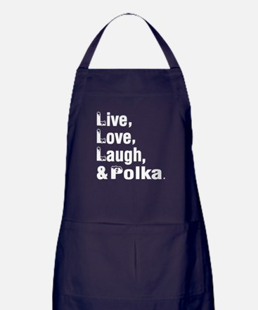 Live Love Polka Dance Designs Apron (dark)