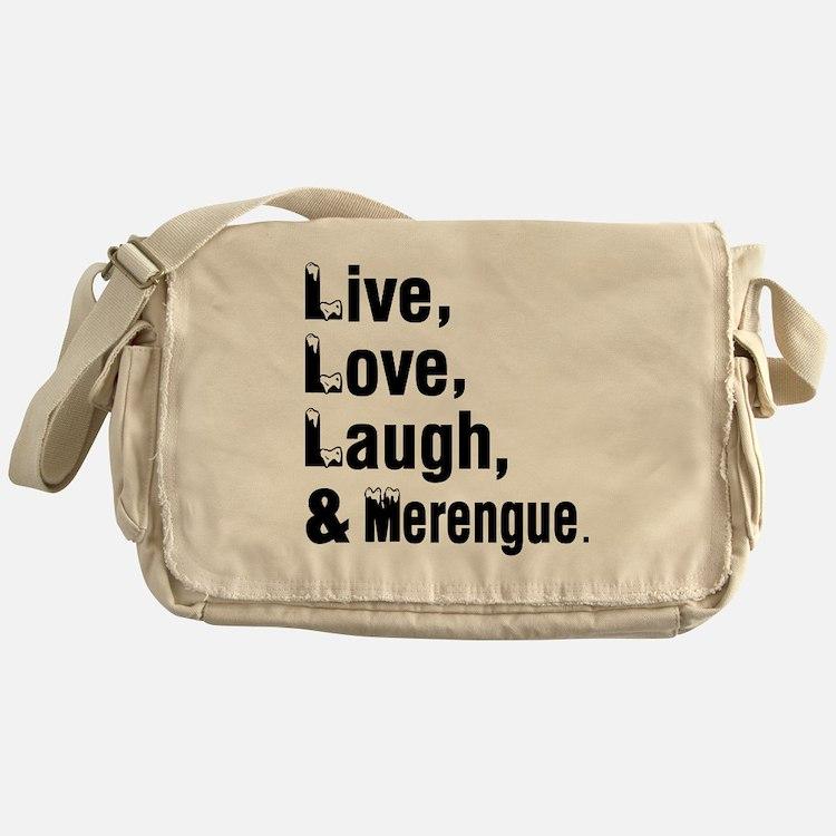 Live Love Merengue Dance Designs Messenger Bag