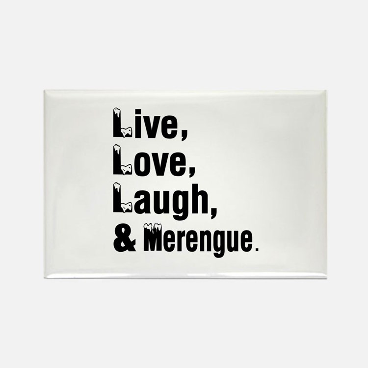 Live Love Merengue Dance Designs Rectangle Magnet