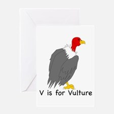 V is for Vulture Greeting Card