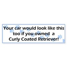 Your Car Curly Coated Retriever Bumper Bumper Sticker