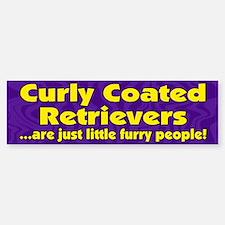 Furry People Curly Coated Retriever Bumper Bumper Bumper Sticker