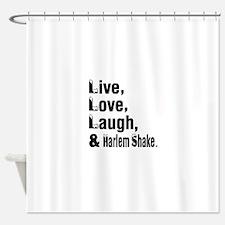 Live Love Harlem Shake Dance Design Shower Curtain