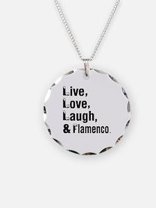 Live Love Flamenco Dance Des Necklace