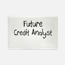 Future Credit Analyst Rectangle Magnet