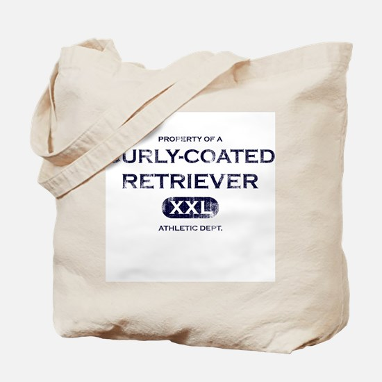 Property of Curly Coated Retriever Tote Bag