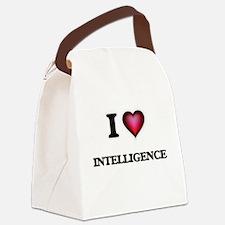 I Love Intelligence Canvas Lunch Bag