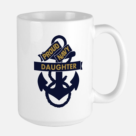 Proud Navy Personalized Large Mug