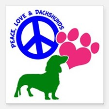 "P,L,DOXIES Square Car Magnet 3"" x 3"""
