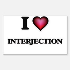 I Love Interjection Decal