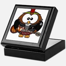 Owl Bird Music Disco Keepsake Box
