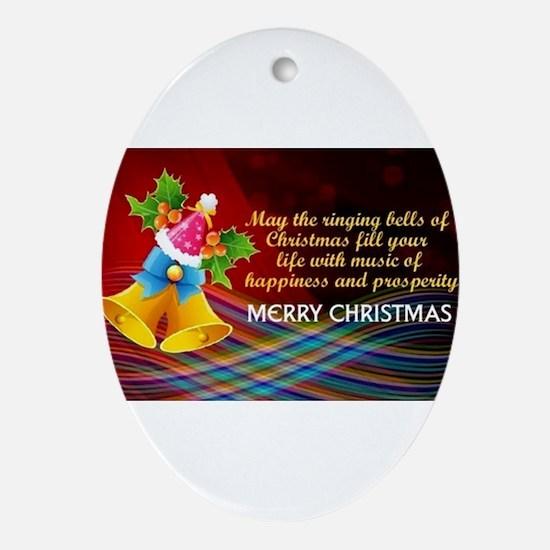 Ringing Bells Oval Ornament