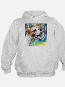 Jack Russell Terrier Painting Hoodie