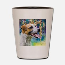 Jack Russell Terrier Painting Shot Glass