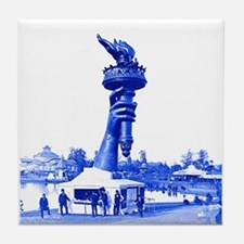 Statue of Liberty Torch On Ground Tile Coaster