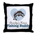 Grandpa's Future Fishing Buddy Fisherman Throw Pil
