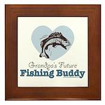 Grandpa's Future Fishing Buddy Fisherman Framed Ti