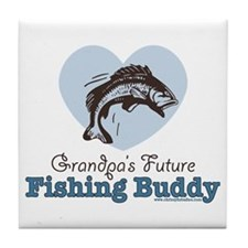 Grandpa's Future Fishing Buddy Fisherman Tile Coas